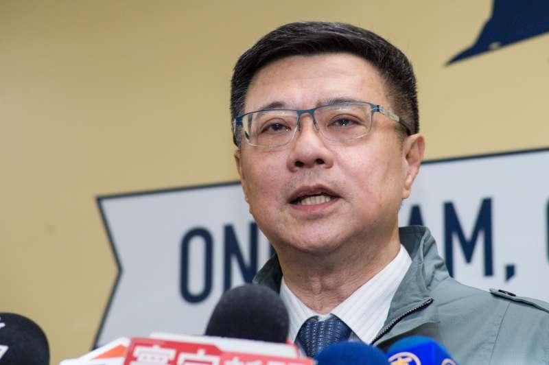 20190106_卓榮泰獲得2萬4699票、得票率72.6%,當選民進黨主席。(簡必丞攝)