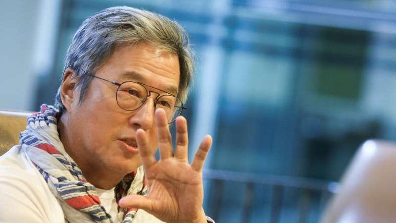 王偉忠和郭子乾回憶政治諷刺、模仿如何登上台灣電視螢幕,在笑聲中見證台灣言論自由演變。(圖/謝佳璋,文化+)
