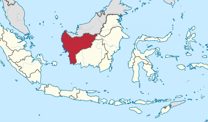 蘭綱共和國為在婆羅洲東南部。(圖/維基百科)