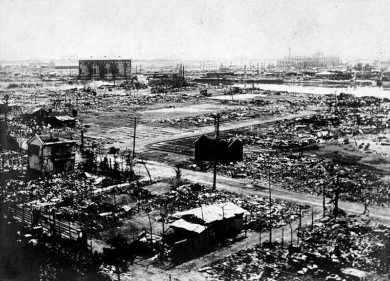 關東大地震之後。(圖/維基百科)