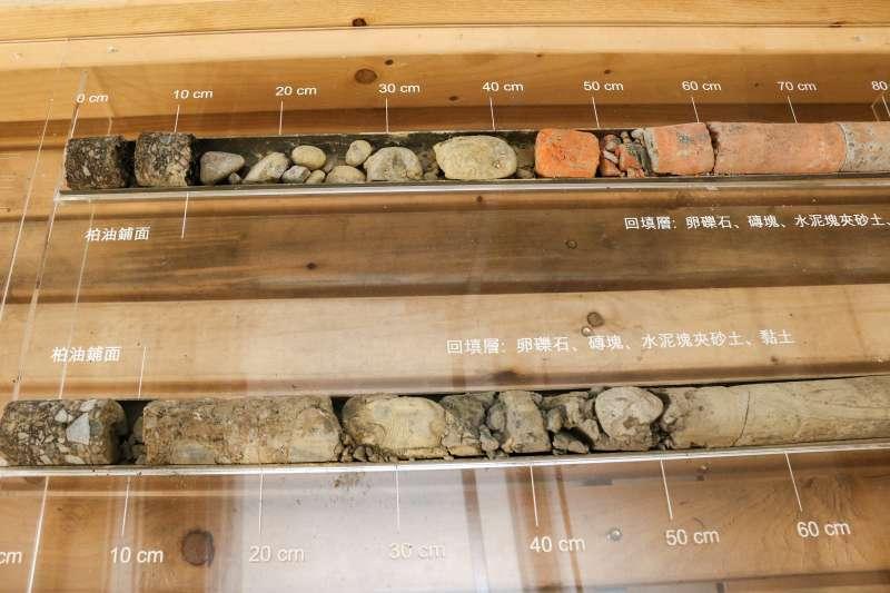 20190110-台灣當代文化實驗場,空總舊址實驗建築,地質探勘樣本。(蔡親傑攝)