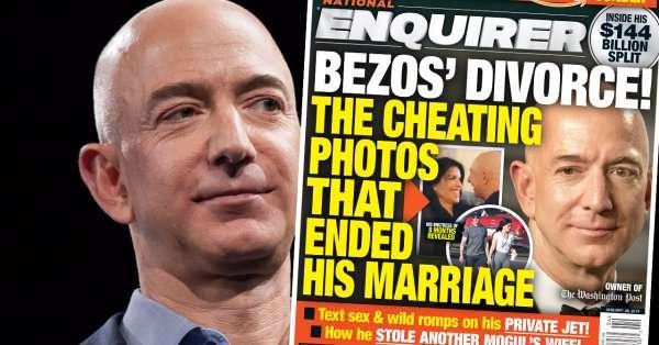 貝佐斯離婚,八卦雜誌稱他外遇前電視主播。(翻攝推特)