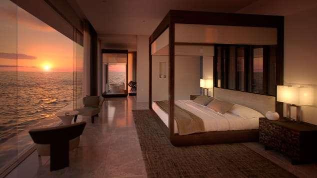 位於海平面上的客房,給旅客有漂浮在海上入眠的幻覺。(圖/瘋設計)