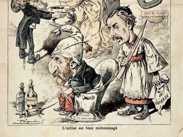 Pépin 的諷刺漫畫(部分),當中亦提到了痔瘡。(圖片由*CUP提供)