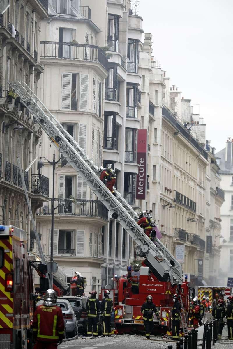 2019年1月12日,法國巴黎市中心發生大規模爆炸(AP)
