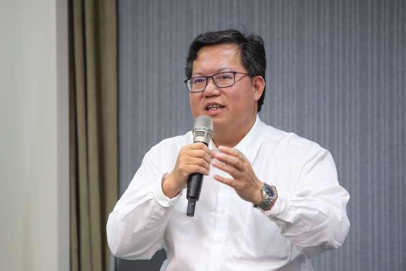 20190116-桃園市長鄭文燦16日於中常會後與媒體座談。(顏麟宇攝)