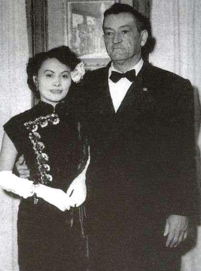 陳納德與陳香梅伉儷。(作者提供)