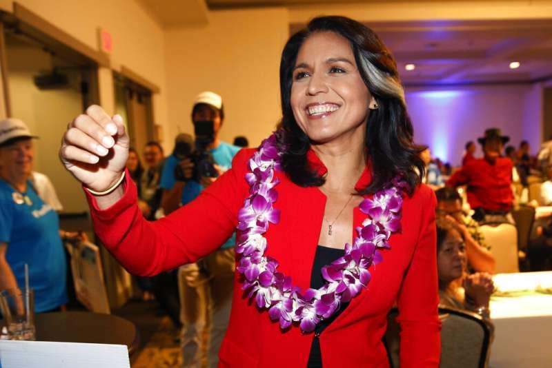美國民主黨籍夏威夷州聯邦眾議員加伯德。(AP)