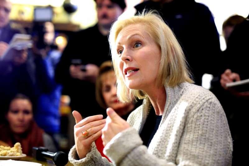 美國民主黨籍紐約州聯邦參議員陸天娜。(AP)
