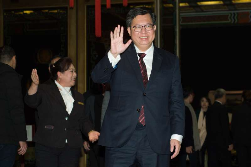 20190120-余天女兒余苑綺婚禮,桃園市長鄭文燦出席。(甘岱民攝)