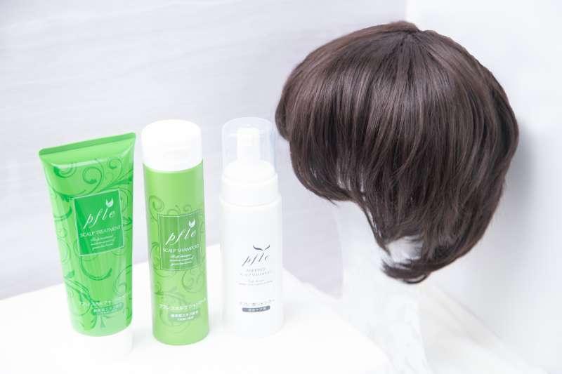 綺麗製作所網站上,可以買到村山社長推薦的敏弱型頭皮洗護用品及醫療假髮。(圖/綺麗製作所提供)