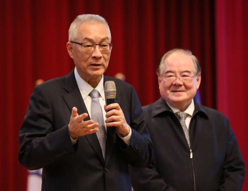 北京對吳敦義(左)的兩岸立場一向有疑慮。(柯承惠攝)