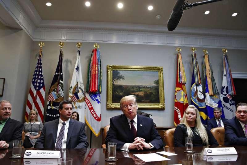 2019年1月23日,美國總統川普。(AP)