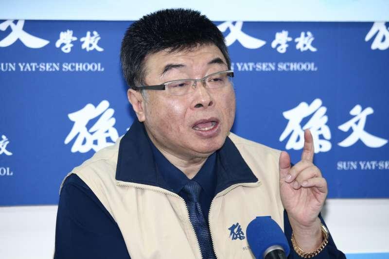 20190125-前立委邱毅出席「孫文學校」總校長張亞中新書發表會。(蔡親傑攝)