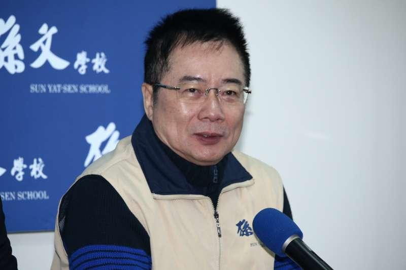 20190125-前立委蔡正元出席「孫文學校」總校長張亞中新書發表會。(蔡親傑攝)
