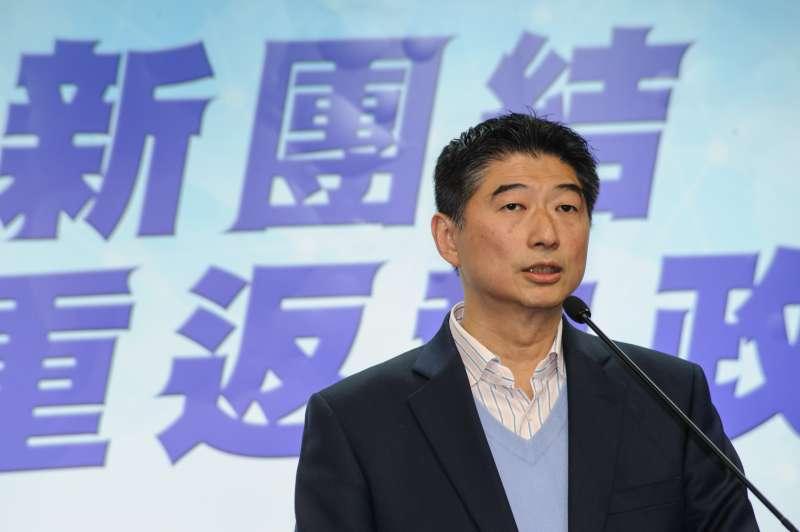 20190127-台北市立委補選候選人陳炳甫宣布敗選。(甘岱民攝)
