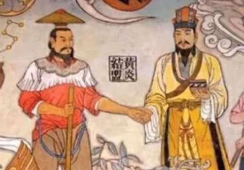 作者認為,黃帝(右)的勝利,是華夏民族歷史上第一次野蠻戰勝文明的悲劇。(YouTube截圖)