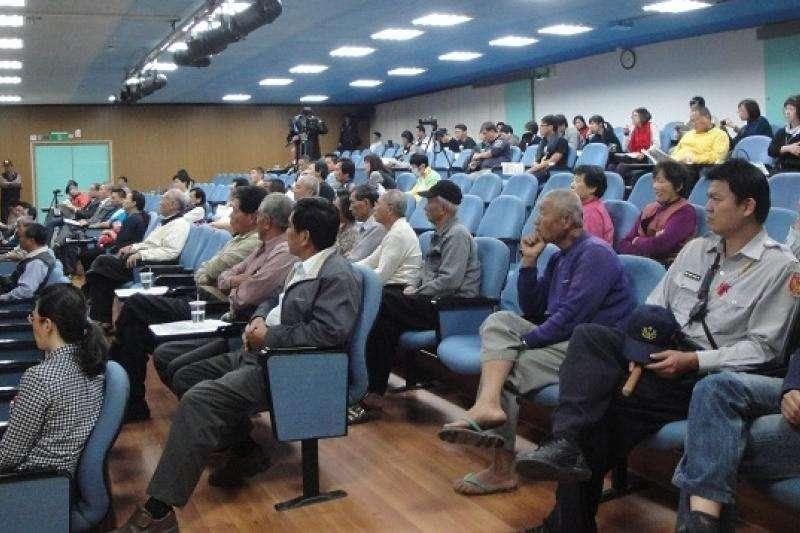四年前, 彰化縣政府就為二林精機開發舉行公聽會。(彰化縣政府)