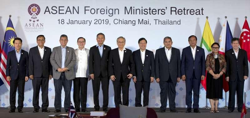 2019年1月18日,東協外長會議在泰國清邁舉行。(美聯社)