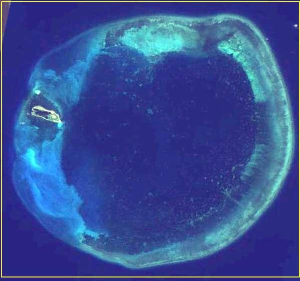 20190129-圖為東沙環礁。(取自東沙國際海洋研究站網站)