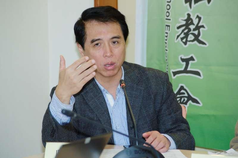 20190129-「私校年改」記者會,立法委員陳學聖 。(甘岱民攝)