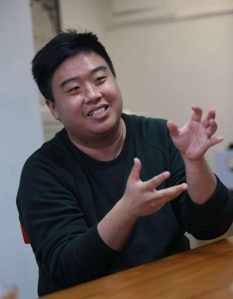 吳宗叡認為類型片的敘事是一種共通語言。(柯承惠攝)
