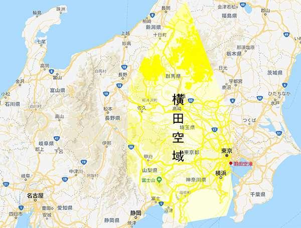 20190131-橫田空域的範圍相當廣闊,涵蓋了大半個東京、長野新潟、群馬、山梨、神奈川以及靜岡等地。(圖/想想論壇提供,陳威臣攝影)