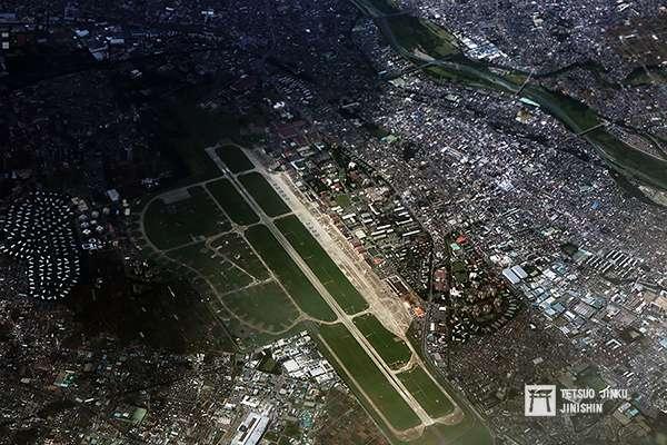 20190131-美軍橫田基地空拍圖,範圍相當廣闊。(圖/想想論壇提供,陳威臣攝影)