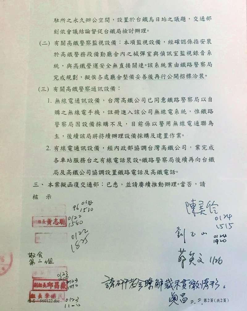 蘇貞昌批公文除簽名、寫日期外,還會加註個人意見。(李順德攝)