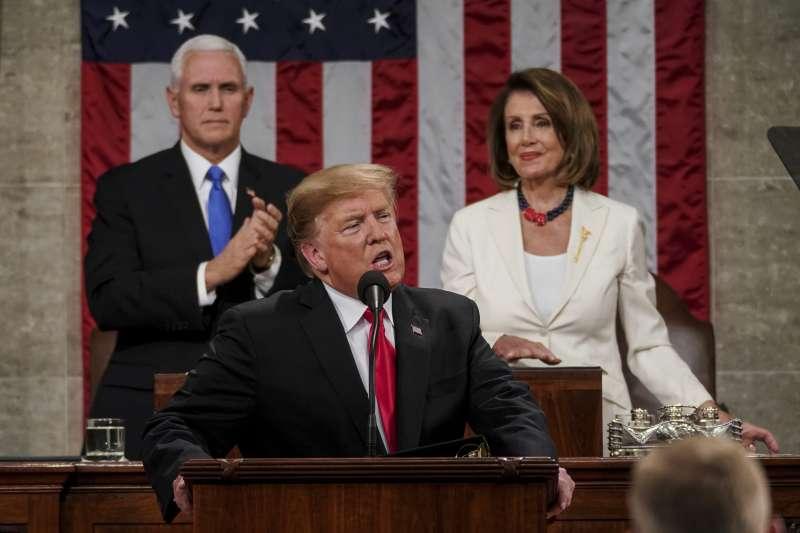 2019美國國情咨文:美國總統川普強調蓋牆阻擋非法移民,以捍衛國土(AP)