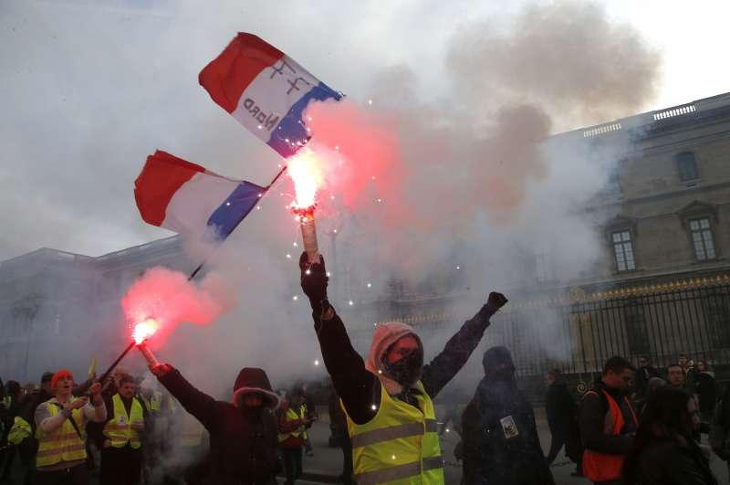 法國黃背心示威(AP)