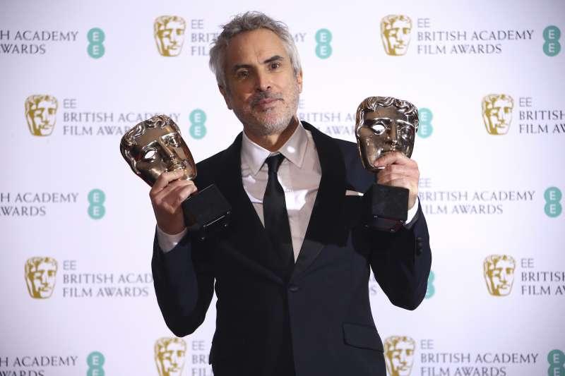 第72屆英國影藝學院獎(BAFTA):艾方索柯朗獲得最佳導演,作品《羅馬》贏得最佳影片和最佳外語片(AP)