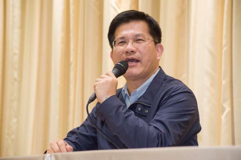 20190211-交通部記者會,部長林佳龍。(甘岱民攝)