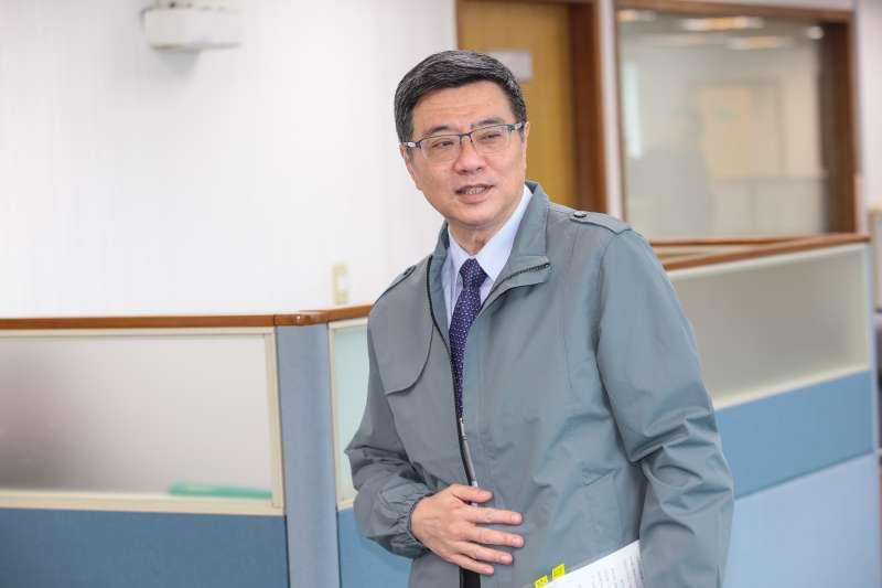20190213-民進黨主席卓榮泰13日出席民進黨中常會。(顏麟宇攝)