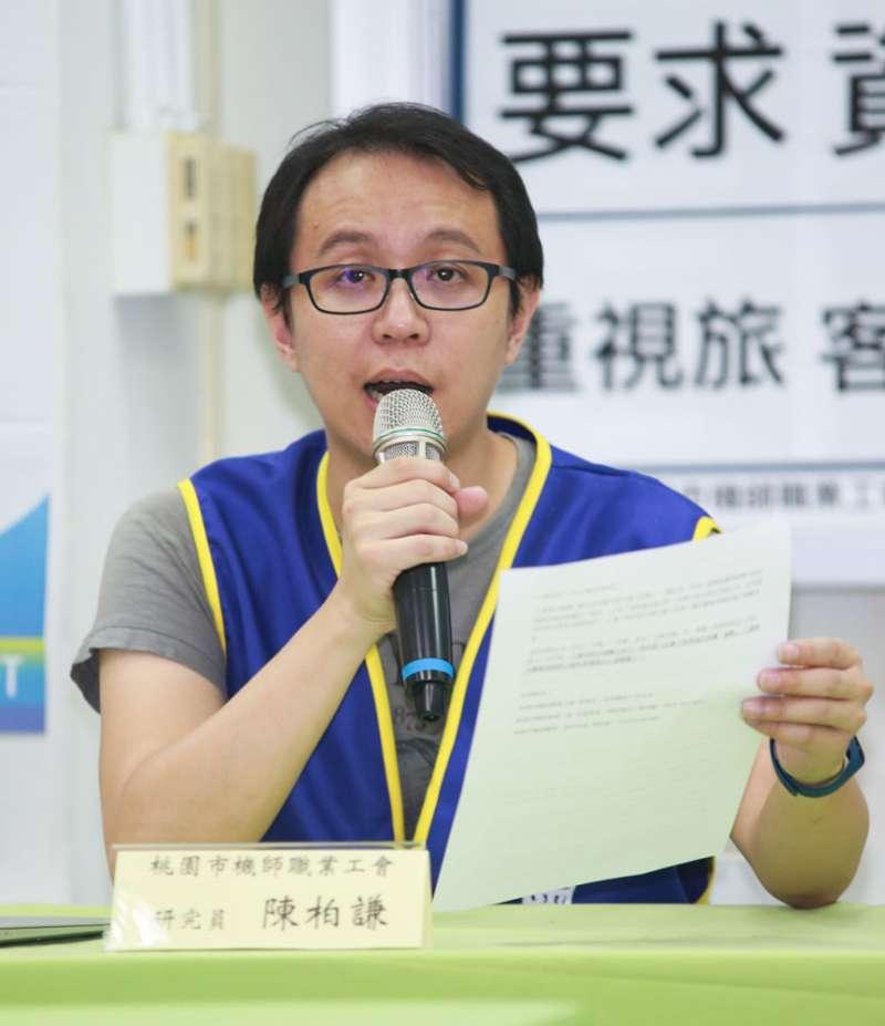 陳柏謙對外傳他是國民黨黨工的說法相當惱火。(簡必丞攝)