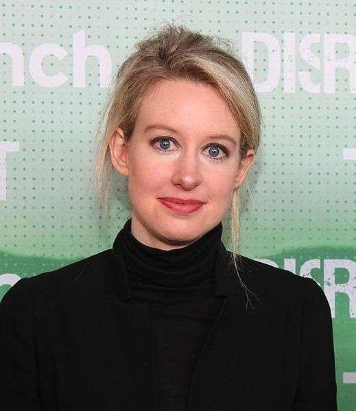 伊莉莎白.霍姆斯。(圖/取自Wikipedia)