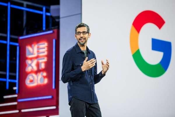 Google執行長Sundar Pichai。Google與蘋果因上架監控女性的程式Absher遭人權團體撻伐,至今Google沒有對此作出回應。(圖/取自Twitter)