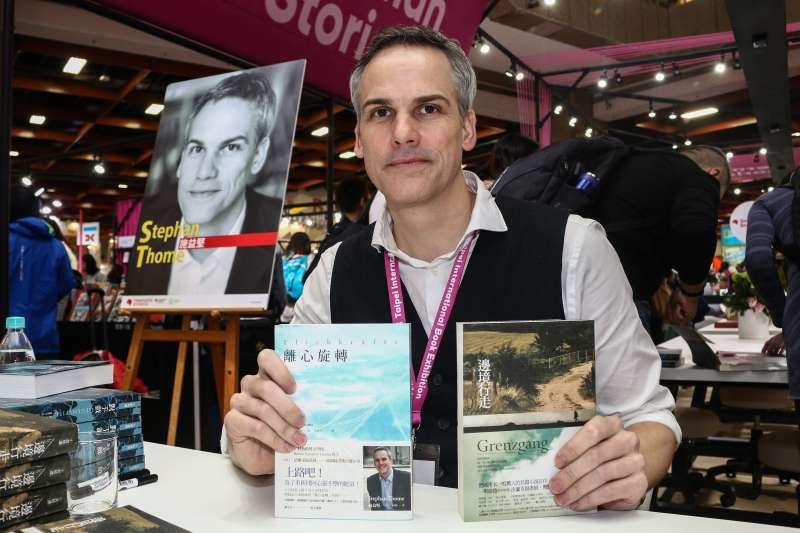 20190214-「第27屆台北國際書展」德國作家施益堅專訪。(蔡親傑攝)