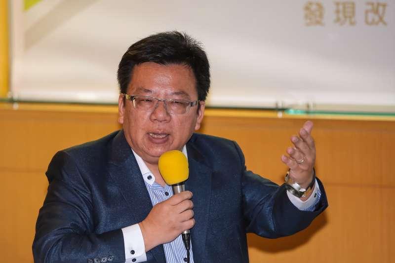 20190214-民進黨立委李俊俋14日出席青平台基金會「2020:如何遏止公投亂象」 座談會。(顏麟宇攝)