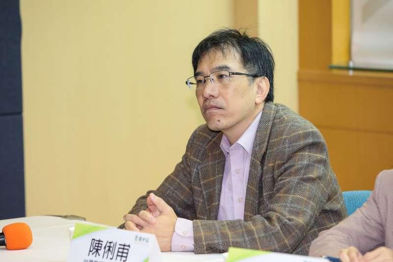 20190214-台灣教授協會副會長陳俐甫14日出席青平台基金會「2020:如何遏止公投亂象」 座談會。(顏麟宇攝)