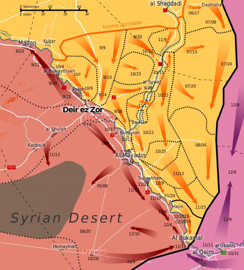 從去年9月開始,「敘利亞民主軍」在幼發拉底河谷發動清剿「伊斯蘭國」殘餘的最終攻勢,如今已步入尾聲。(Rr016@Wikipedia/CC BY-SA 4.0)