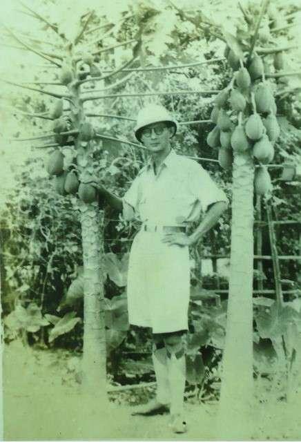 黃振三在二二八事變後回故鄉彰化田尾經營農場。(黃映溓提供)