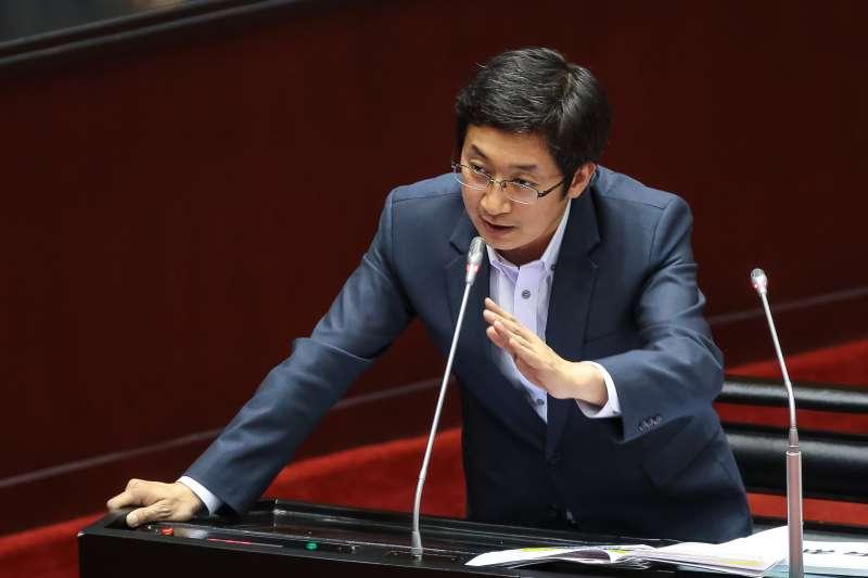 20190219-民進黨立委蔡適應19日於立院質詢。(顏麟宇攝)