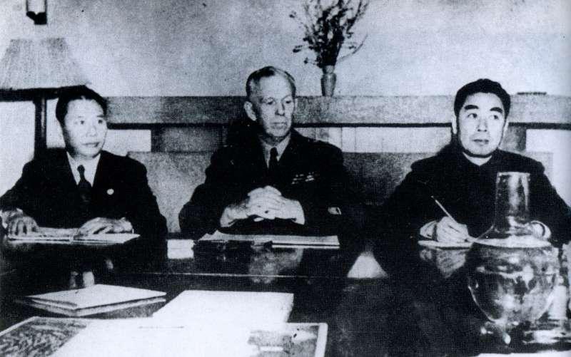 1945年12月,馬歇爾奉美國總統杜魯門之命出使中國,希望能調停國共內戰。(圖/維基百科)