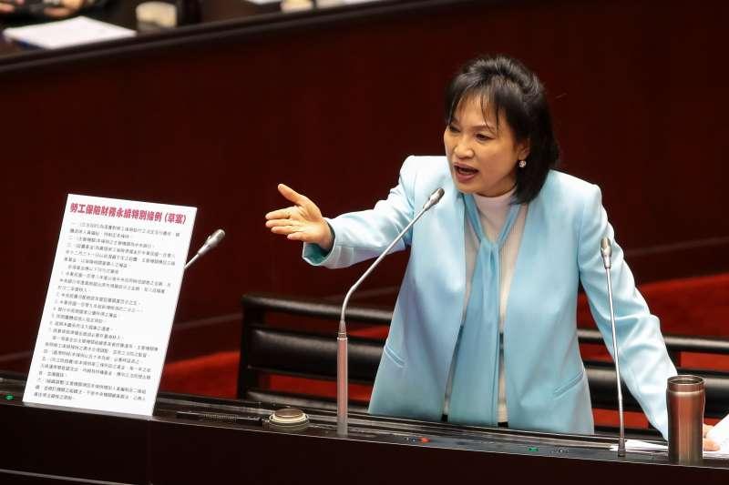 20190219-國民黨立委柯志恩19日於立院質詢。(顏麟宇攝)