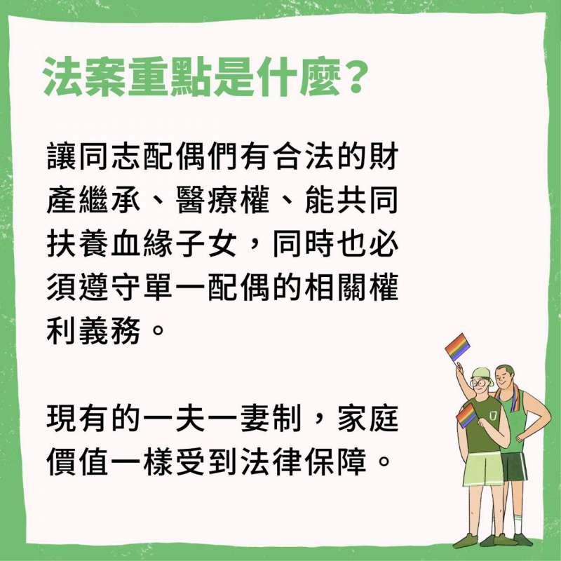 2019-02-20 行政院即將提出同婚專法草案,一系列懶人包說明這次修法內容,法案重點(行政院提供)