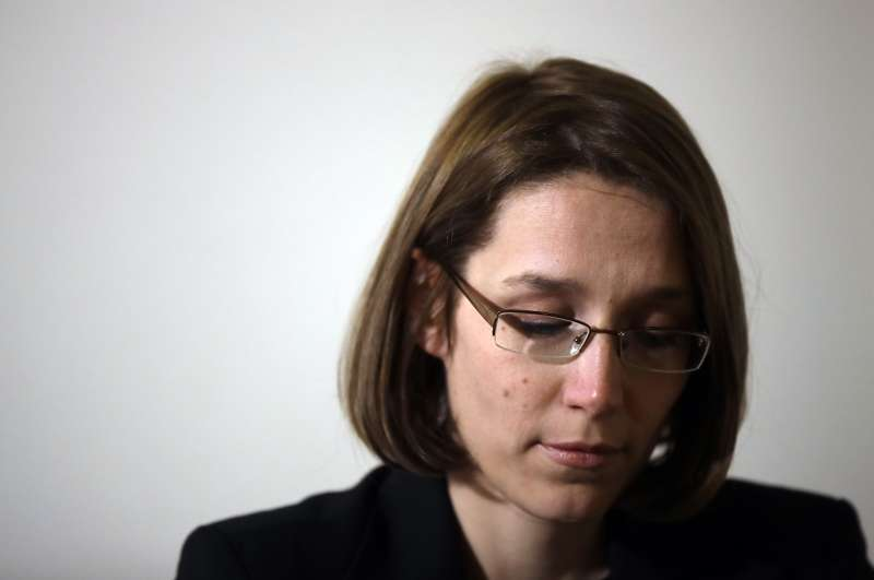 瓦格納先前擔任修女,在2008年遭到一名神父性侵,她19日參加記者會,訴說自己的經歷(美聯社)