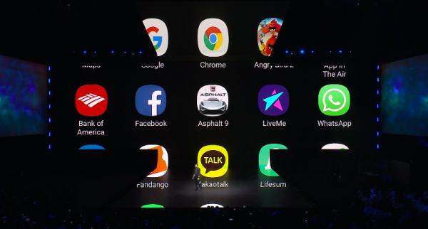 現場有秀出的APP,應該是至少保證早期都可以支援Fold的介面。(圖/取自Samsung YouTube)