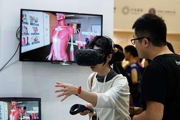 現場VR互動體驗引起許多民眾參與(圖/風傳媒)