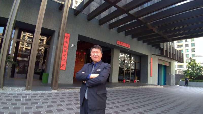 H2O總經理譚逸峰說,飯店隨時要保持最佳狀態,服務品質需要不停進步與創新,維持顧客忠誠度。(圖/徐炳文攝)